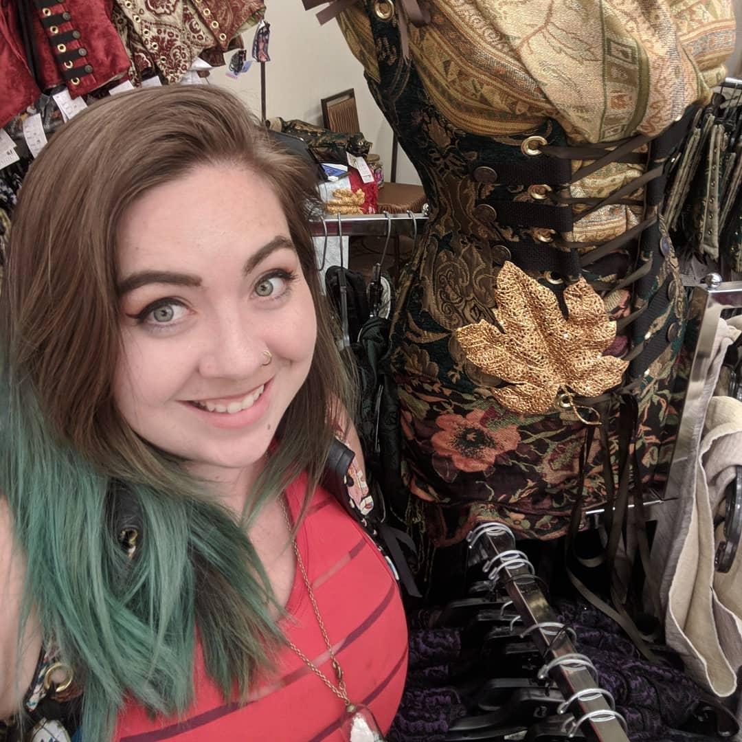 Demeter Selfie with Mannequin